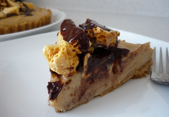 Chocolate Peanut Butter Honeycomb Pie | Baking Things