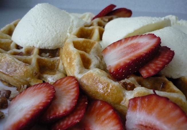 how to make vanilla belgian waffles